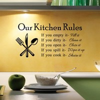 Kitchen Wall Sticker Living Room Bedroom Decoration Waterproof Stickers [6034363713]