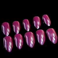 Nail Art DIY Design STILETTO Shape Fake Nails Grape Purple Lady Fashion Artifitial Nails 24pcs/sheet 83P