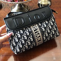DIOR Retro Women Shopping Bag Leather Shoulder Bag Crossbody Satchel