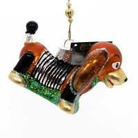 Old World Christmas TOY COIL DOG Glass Ornament Slinky Coil 44098