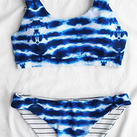 Cupshe Got It Covered Tie-dyed Tank Bikini Set