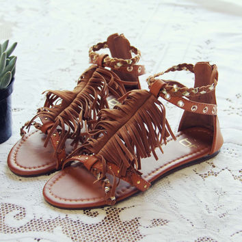 Braided Canyon Sandals in Sand