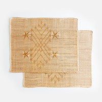 Star Woven Placemats, Set of 6