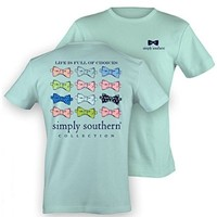 Simple Southern Preppy T-Shirt - Bow Ties - Life Is Full Of Choices (Small)