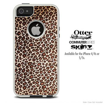 The Cheetah Print V5 Skin For The iPhone 4-4s or 5-5s Otterbox Commuter Case