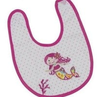 """Mermaid Bib with Applique 12"""" by Maison Chic"""