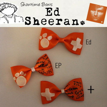 Ed Sheeran Hair Bows or Bow Ties by ShowtimeBowsbyLouise on Etsy