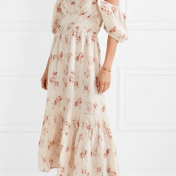 LoveShackFancy - Angie gathered floral-print linen maxi dress