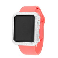 Copy of Pink silicon Band Genuine Diamond Apple Watch