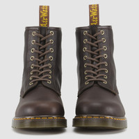 Dr Martens 1460 FOR LIFE DARK BROWN HARDLIFE - Doc Martens Boots and Shoes