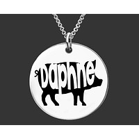 Pig Necklace | Personalized Pig Necklace
