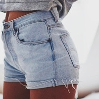 ALL SIZES High Waisted Denim Shorts