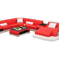 Ray Sectional with Table by Scene Furniture - Opulentitems.com
