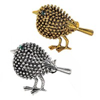 ac spbest Antique Silver Plated Cute Bird Brooches Pins for Women Kids Gifts Alloy Crystal Broches Pins Lapel Pins Collar Women Jewelry