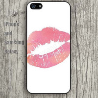 Lips kiss colorful iphone 6 6 plus iPhone 5 5S 5C case Samsung S3,S4,S5 case Ipod Silicone plastic Phone cover Waterproof