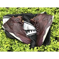 Air Jordan 5 Retro Premium Bordeaux Wine AJ5 Sneakers