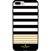 New Kate Spade Black Stripes Gold Hard Case Fit for iPhone 6/6s 6s Plus 7 7 Plus