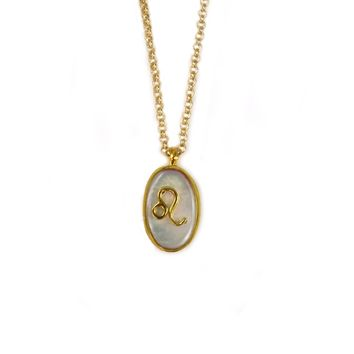 Mother of Pearl Leo Pendant