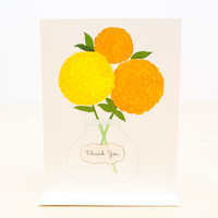 Thank You Zinnias Greeting Card