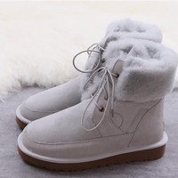 """""""Ugg """"Wool Snow Boots winter women Lace boots/1018633"""