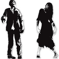 zombie silhouettes Case of 12