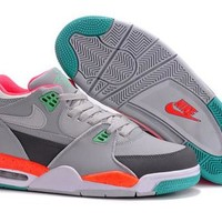 Cheap Air Jordan Flight 89 Retro Men Shoes Grey Orange Green