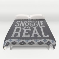 the snuggle is real Duvet Cover by Cabin Supply Co
