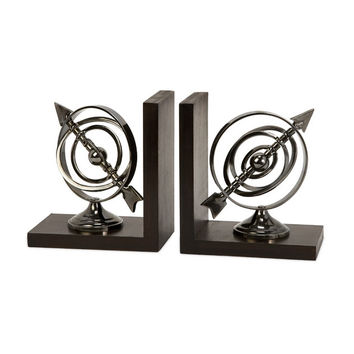 Classic Armillary Bookends