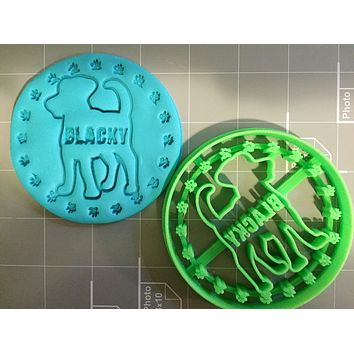 Customized Dog Cookie Cutter (with your dog'sname) Limited Edition