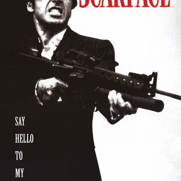 Scarface Say Hello to My Little Friend Poster 24x36