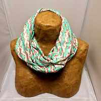 Colorful Knit Scarf - Ruby Stairs - Patterned Scarf