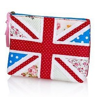 Pure Cotton Union Jack Zip Cosmetic Purse-Marks & Spencer