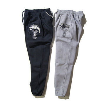 Stussy Couple fashion Sweatpants Trousers Pants Sportswear Exercise Casual Running Yoga Gym _ 9269