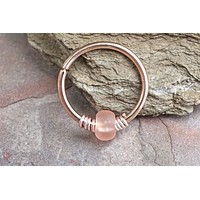 16g 18g or 20 Gauge Rose Gold Nose Hoop Ring or Helix Tragus Cartilage Hoop Earring