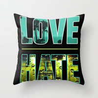 Thin Line Between Love and Hate Throw Pillow by DejaLiyah | Society6