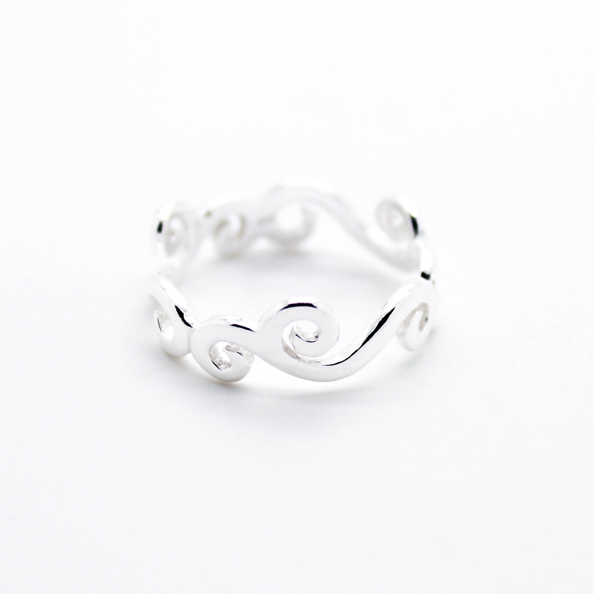Image of Wave sterling silver ring