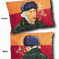 Van Gogh Self-Portrait Pillow Case Sham 27L