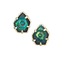 Kendra Scott Tessa Stud Earrings In Abalone Shell