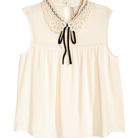 Lace-collared Blouse - from H&M