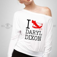 Bull-shirt.com I Crossbow Daryl Dixon Walking Dead Off Shoulder Top Bull-shirt.com