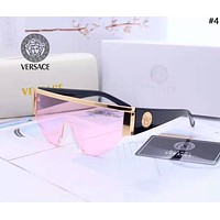 Versace 2019 new tide brand piece large frame color film polarized sunglasses #4