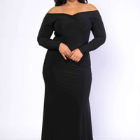 Sexy Bodycon Gown Off Shoulder Dress