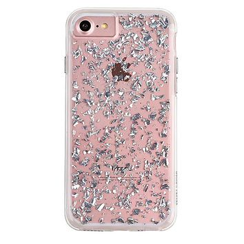 Silver Flakes Dual iPhone Case