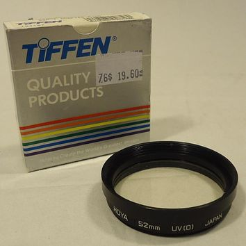 Tiffen 52m-7 Camera Lens Adapter Ring 154107 Vintage Glass Metal -- Used
