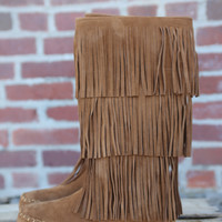 Apache 3 Layer Fringe Boot by Pierre Dumas {Tan}