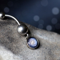 Space Belly Button Ring