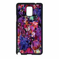 Lush Floral Pattern Beaming Orchid Purple Samsung Galaxy Note 4 Case