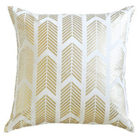 Arrows in Gold Decorative Pillow