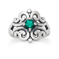 Spanish Lace Ring with Lab-Created Emerald | James Avery