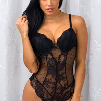 Dreaming Lace Teddy Black